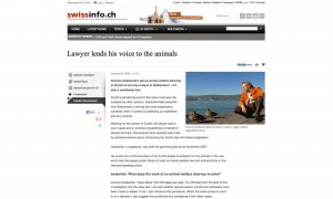 Lawyer lends his voice to the animals