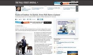 Scales of Justice: In Zurich, Even Fish Have a Lawyer