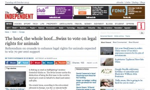 The hoof, the whole hoof...Swiss to vote on legal rights for animals