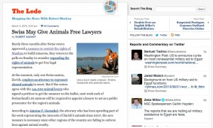 Swiss may give animals free lawyers